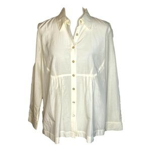 J. Jill Bib Front Button Down Blouse Medium